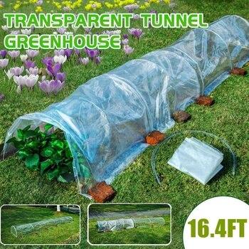 Invernadero de túnel para exteriores, 500x60x40CM, aislamiento Anti-UV para plantas, con soporte...