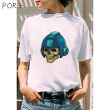 Giant Skull In Armor Korean Style High Quality Unisex T-Shirt Funny Women Tops Tee Female T shirt Print Casual Men Tshirt(China)