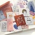 JIANWU 60sheets Nette Salz Serie Mädchen Katze Aufkleber Pack Einfache Beschreibbare Dekorative Washi Aufkleber DIY Album Tagebuch Schreibwaren