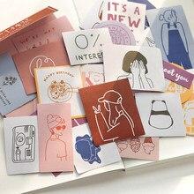 Jianwu 60 folhas bonito série de sal menina gato adesivos pacote simples gravável decorativo washi adesivos diy álbum diário artigos de papelaria
