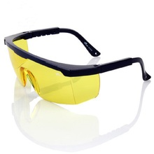 Construction Safety Glasses Protective Anti Dust Particles Impact proof Amber Polycarbonate Lens Dim Environment