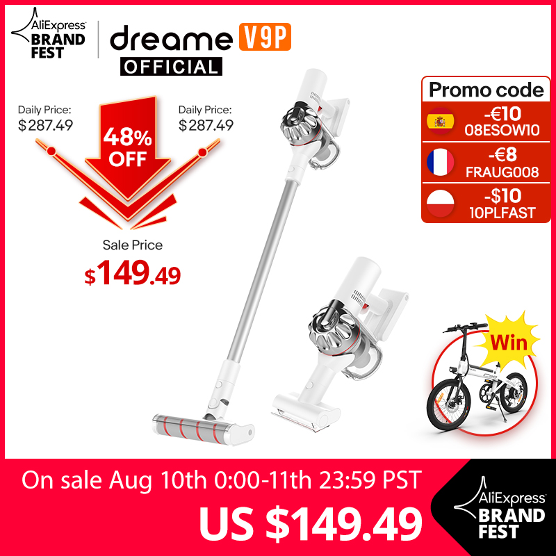 Dreame V9P Handheld Wireless Vacuum Cleaner Portable Cordless Cyclone Filter Carpet Dust Collector Carpet Sweep|Vacuum Cleaners| - AliExpress