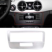 Para mercedes benz glk 2013 2014 2015 modo de voz do carro painel capa quadro adesivo interior acessório do carro estilo
