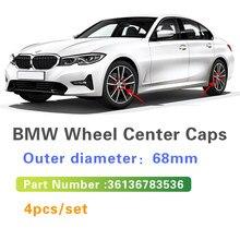 4pcs 68mm Auto Carro Do Centro de Roda Hub Caps Tampas de Aro Para BMW E84 E83 E70 F15 E71 F16 E81 E87 F20 E90 E91 E93 F30 E60 E61 M5 F10