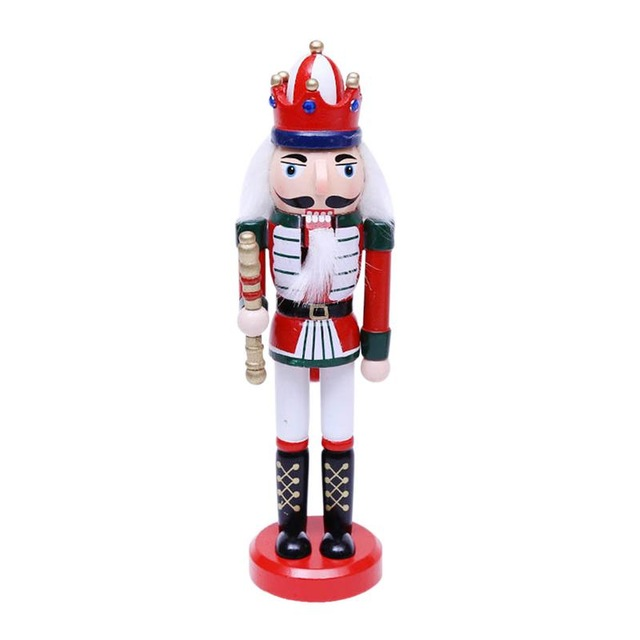 24CM Nutcracker Christmas Puppet Soldier Shape Doll Ornament Childrens Holiday Gifts Home Nutcracker Decors Christmas Decoration