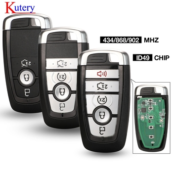 Kutery ID49 434/868/902 MHz Smart Proximity Key for Ford Mondeo Mustang Fusion F-250 F-350 F-450 F-550 2017 M3N-A2C93142600