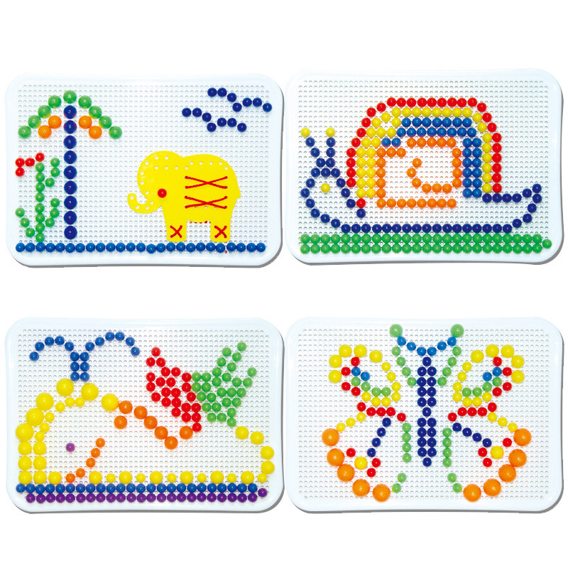Image 5 - Nails Spelling Puzzle Toys For Kid Gifts 2019 Novelty Child Board Mushroom Nail Combination Building Blocks Puzzle Game Mushroom-in Interconnecting Blocks from Toys & Hobbies
