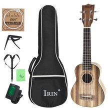 цены 21 Inch Soprano Ukulele Zebra Wood 15 Frets Four Strings Guitar + Bag + Tuner + String + Strap + Cloth