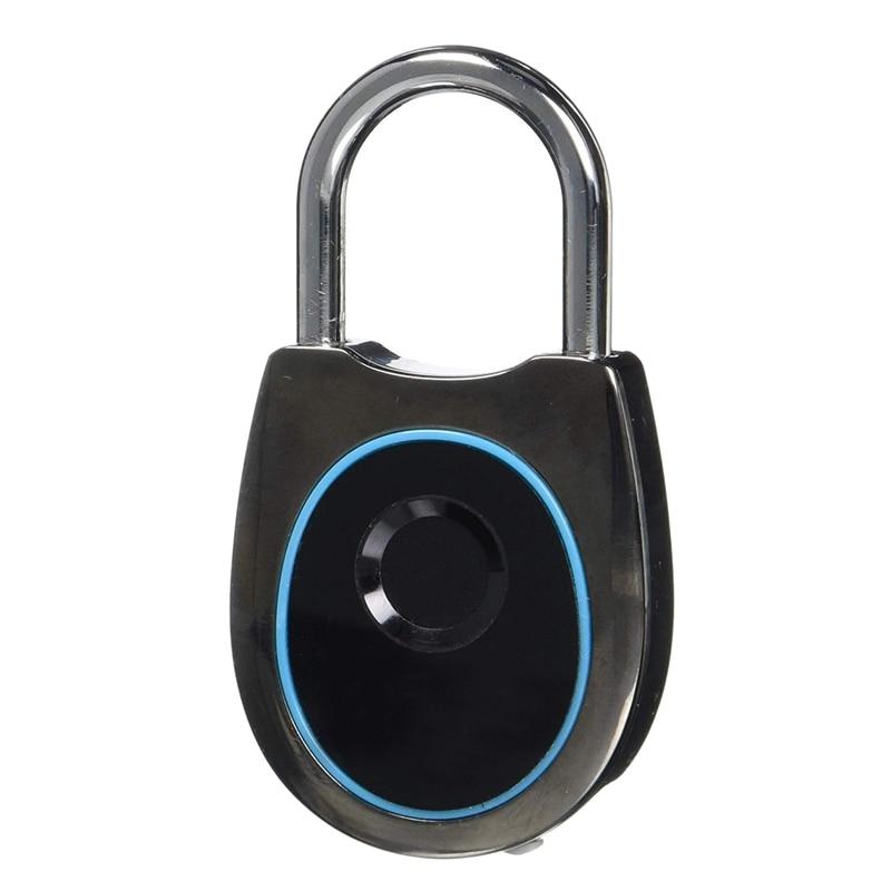 Bloqueo de huella digital inteligente-candado biológico sin llave, adecuado para gimnasios, casilleros, mochilas, bicicletas, puertas, bolsos Sui