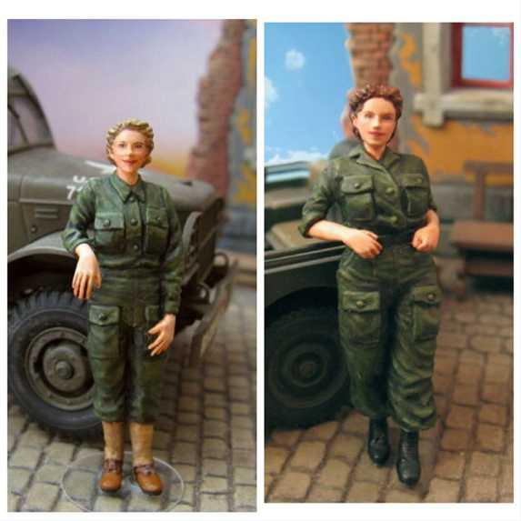 مجموعة الممرضات الميدانية للجيش الأمريكي في الحرب العالمية الثانية 1:35 (2 أرقام)