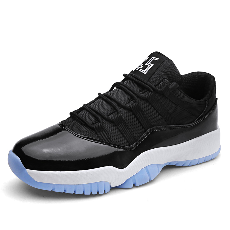 New Men's Basketball Shoes Black White Basketball Shoes Jordan Sneakers Anti-skid Breathable Plus 45 Outdoor Sports Jordan Shoes