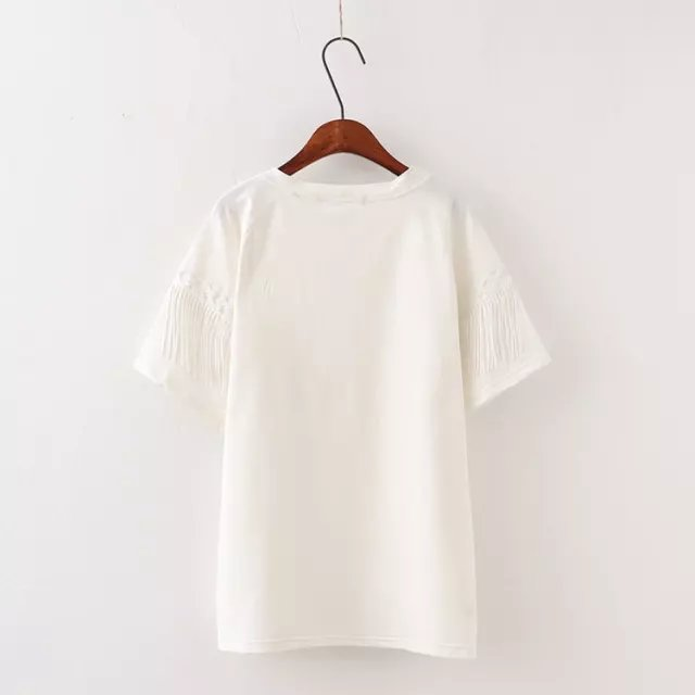 Han edition loose cotton short sleeve T-shirt in the summer of big mm