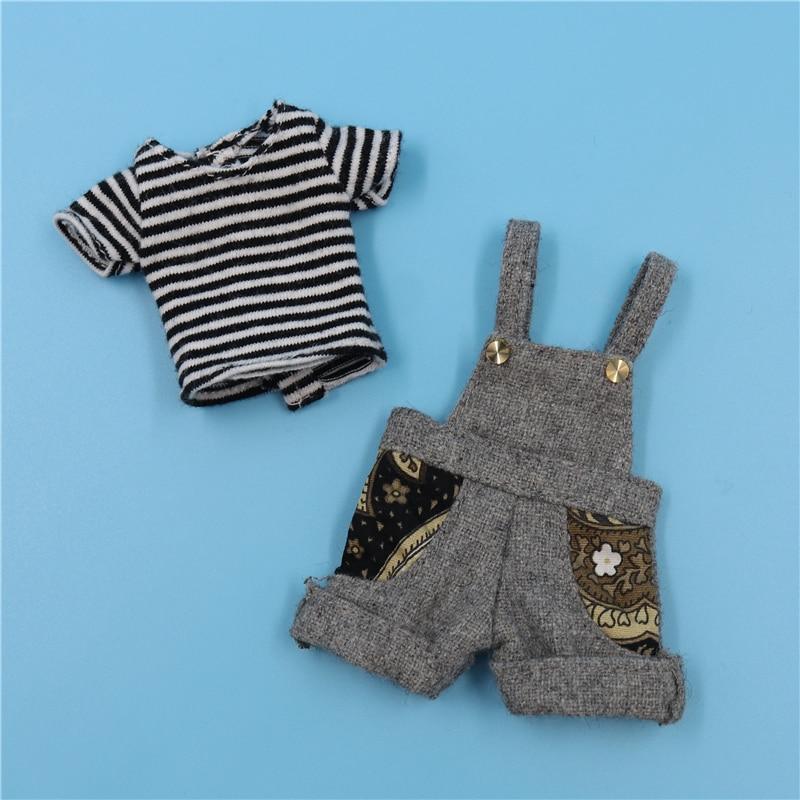 Neo Blythe Doll Striped Shirt & Jumpsuit 1