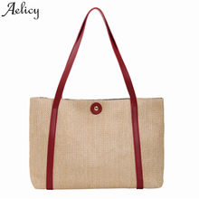 Aelicy Bags For Women 2019 Fashion Straw Bag Popular Lady Hasp Handbag Shoulder Bag Soft 2Handle Shoulder Bag Dropshipping(China)