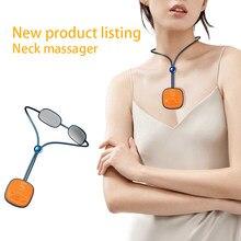 Massagem no pescoço pulso portátil inteligente 4d sem fio ponto de gatilho profundo massager tecido com uso no escritório em casa ao ar livre carro