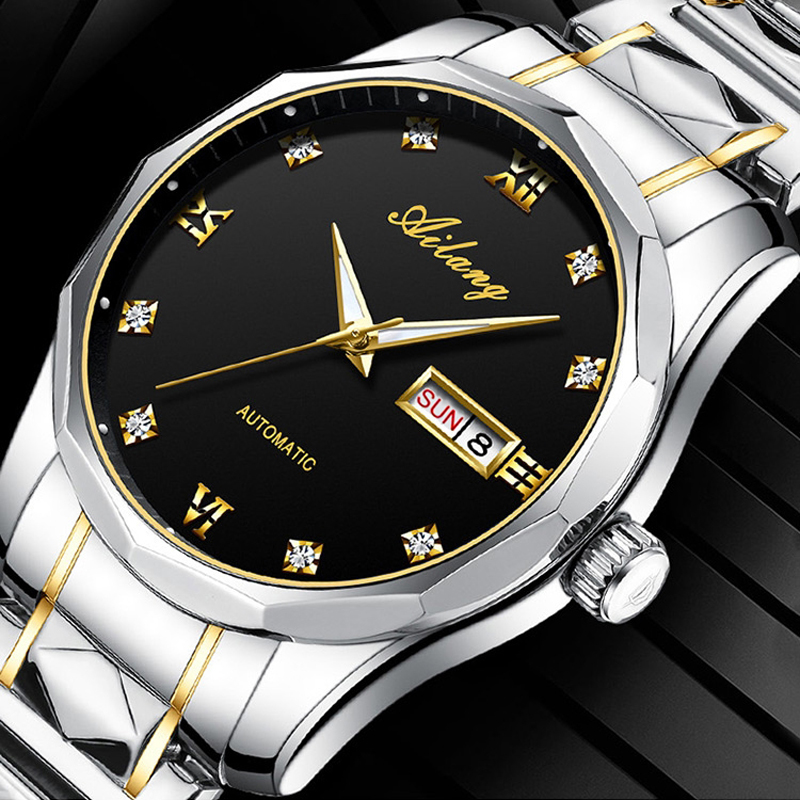 AILANG 2020 Watch Men Top Brand Luxury Military Army Sports Casual Waterproof  Luminous Calendar Mens Watches Mechanical Clock