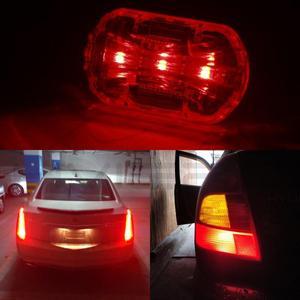 Image 4 - 10X 1156 BA15S 1157 BA15D BAY15D P21W 13Led רכב Led לוחית רישוי אור זנב איתות אוטומטי בלם הפוך הנורה תא מטען מנורה