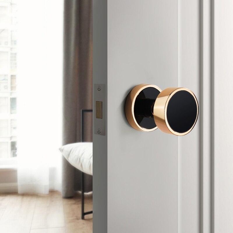 Zinc alloy Round or square Door Knobs Handle Entrance Passage Lock Lock For Home Door Hardware Accessories