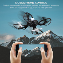 Складной мини Дрон Квадрокоптер индукция Drone мобильный телефон Управление жест самолет дистанционного НЛО взаимодействие летающие игрушки