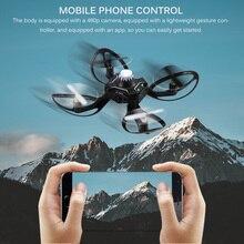 Pieghevole Mini Drone Quadcopter induzione Drone controllo del telefono cellulare gesto aereo telerilevamento UFO interazione giocattoli volanti