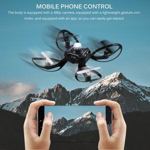 Image 1 - Składany Mini Drone Quadcopter indukcja Drone sterowanie przez telefon komórkowy gest samolot zdalne wykrywanie UFO interakcja latające zabawki