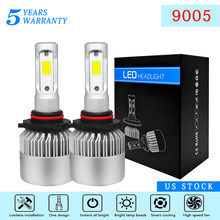 2PCS LED 8000LM/PAIR Mini Car Headlight Bulbs Headlamps Kit 9005 HB3 H10 Auto Lamps IP65 Water Dust Seal Pure White 6500K(China)
