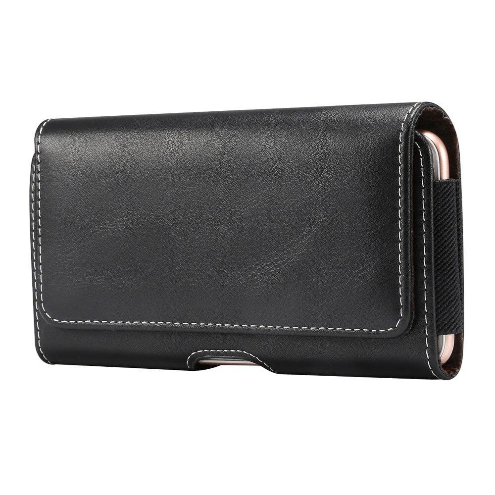 Brand 4.7~6.9 Inch Men Waist Packs Phone Pouch Bags 5 Size Belt Clip Case Waist Bag Litchi Grain Mobile Phone Bags Fanny Packs