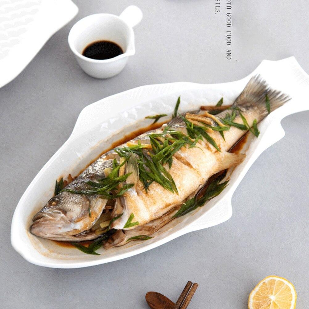 Керамическая посуда, креативная тарелка в форме рыбы, хранение закусок, рыбная сковорода, изысканная тарелка, кухонные аксессуары
