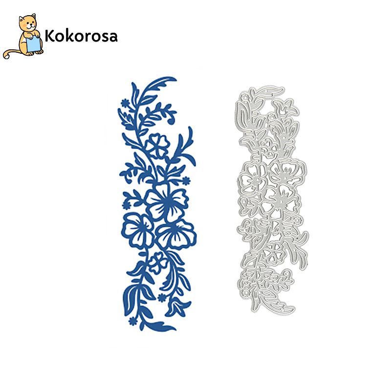 Kokorosa Flower Border Metal Cutting Dies Floral Branch Frame DIY New 2019 Scrapbooking For Card Making Embossing Stencil