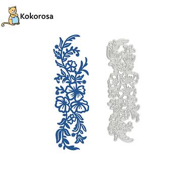 Kokorosa kwiat granicy metalu wykrojniki kwiatowy oddział rama DIY nowy 2019 Scrapbooking na tworzenie kartek szablon do wytłaczania tanie i dobre opinie Zwierząt DMAL597