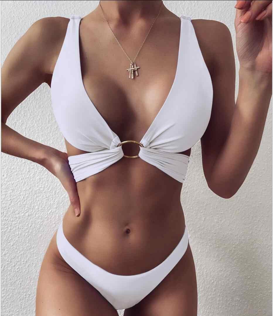 뜨거운 비키니 섹시한 암소 인쇄 비키니 세트 여자 수영복을 밀어 브라질 타이 염료 여름 수영복 두 조각 수영복