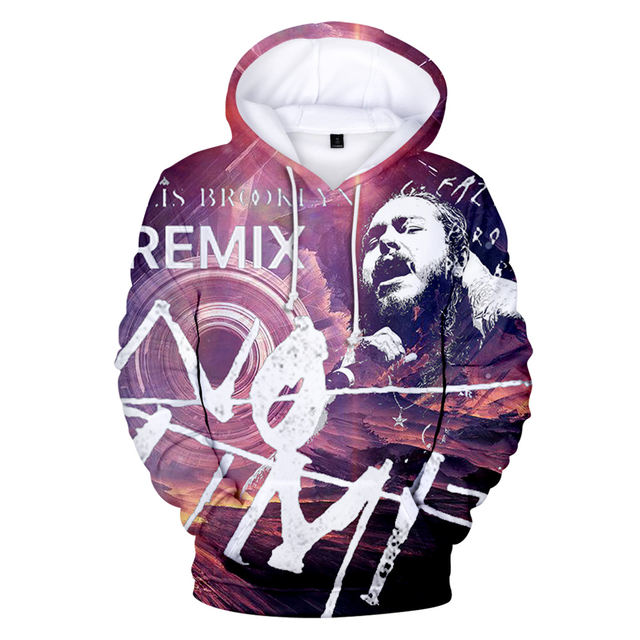 3D POST MALONE THEMED HOODIE