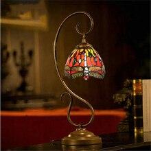 7 inch Tiffany study desk lamp bedroom bedside question mark enamel glass decorative lighting