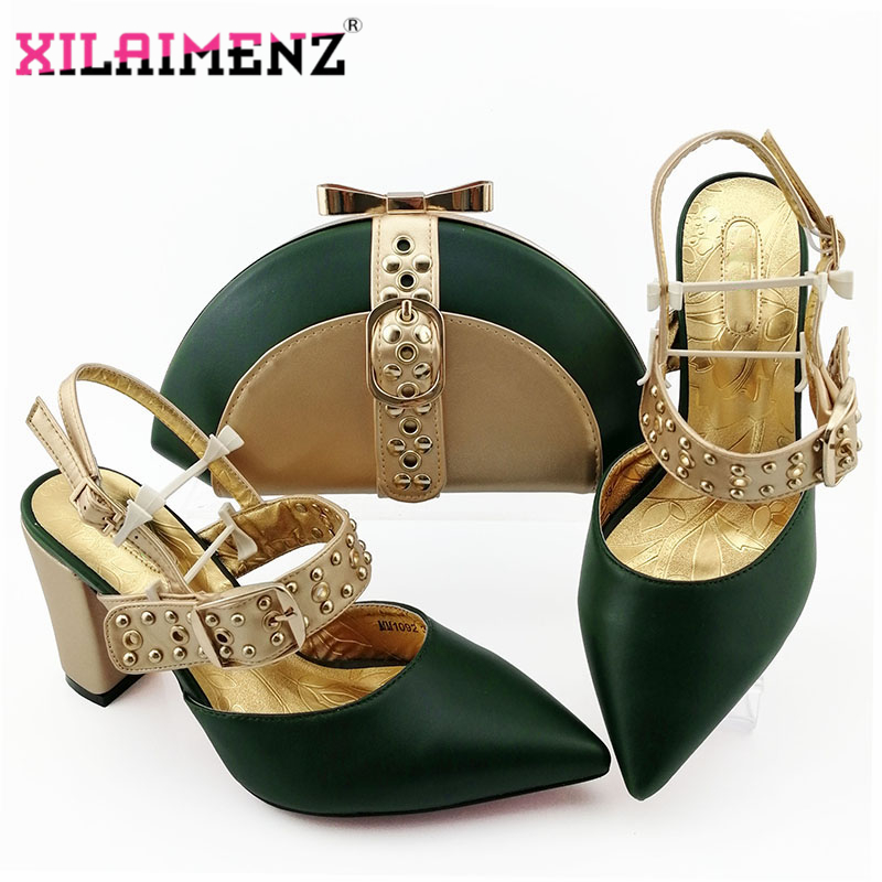 Image 3 - Royal Blue New Design Italian Elegant Shoes And Bag To Match Set  Italian Comfortable Heels Party Shoes And Bag Set For WeddingWomens  Pumps