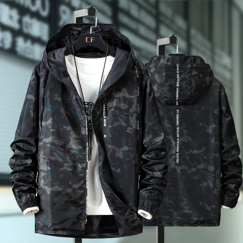 Windbreaker Coat Outwear Jacket Men Spring Camouflage Hoodie Male Autumn 7XL Plus 10xl 9xl