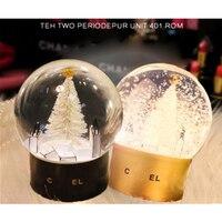 Crystal Snow Globes Crystal Ball Craft Home Coffee Shop Desktop Decor Ball Glass Christmas Birthday Wedding Valentine's Day Gift