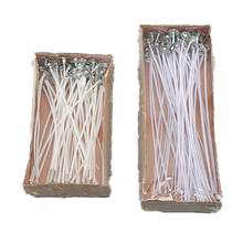 50Pcs/set Candle Wicks With Candle Wick Centering Device For DIY Candle Making Non-Toxic Cotton Core Candle Material(China)