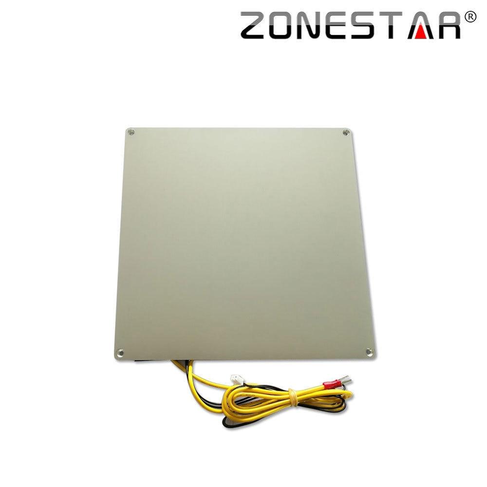 ZONESTAR Aluminium Base Heatbed Print Platform MK3 12V RepRap 3D Printer Hotbed 150x150 220x220 310x310 3mm Thickness With Cable