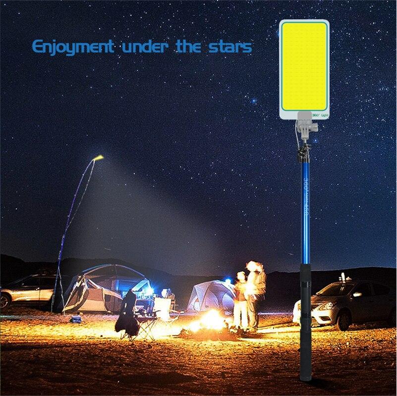 360 световых светодиодных фонарей для кемпинга, перезаряжаемых переносных садовых уличных фонарей, светодиодных фонарей для кемпинга, автом...