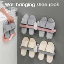 Тапочки стойка стена крепление складывание хранение держатель 2 пары обувь стойка органайзер для ванной комнаты кухни дома подвес крючок органайзер