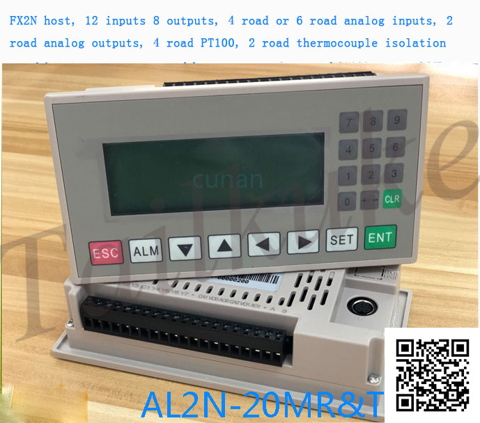 Plc One Machine Text Machine PLC Op320 One Machine Temperature Acquisition PT100 Thermocouple