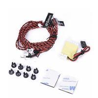 Flash RC Kit de luz LED para RC helicóptero avión aviones avión realista 8 LED sistema de iluminación|Partes y accesorios| |  -