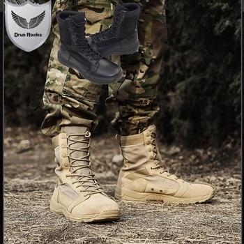 Botas Militares de alta calidad para hombre, zapatos masculinos de combate militar