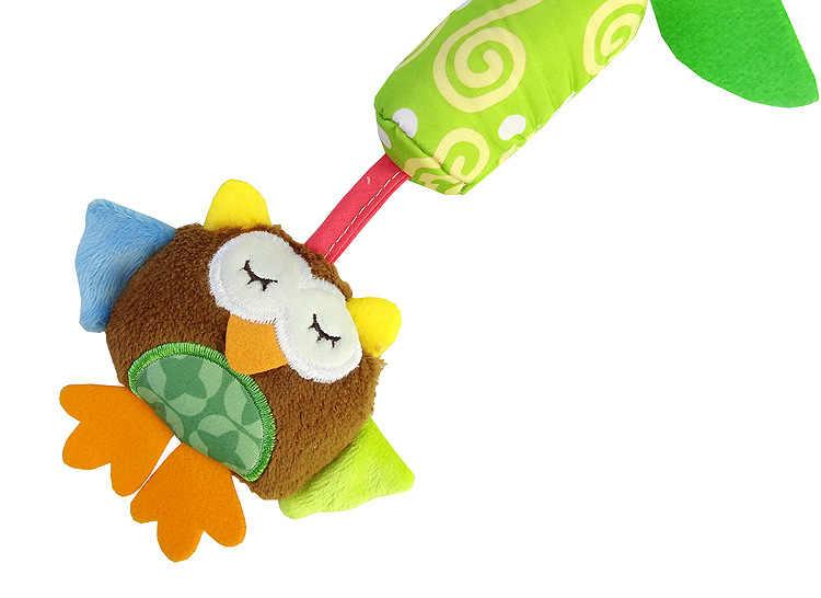 Мягкая детская кроватка, погремушка, игрушки для малышей, лягушка, слон, Сова, кошка, детская коляска, детская тележка, 0-12 месяцев, обучающая погремушка для малышей