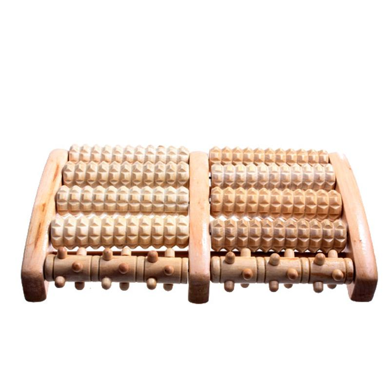 Larger Size Wooden Feet Massager Roller Relaxation Stress Relief Massager Stimulating Acupoint Health Care