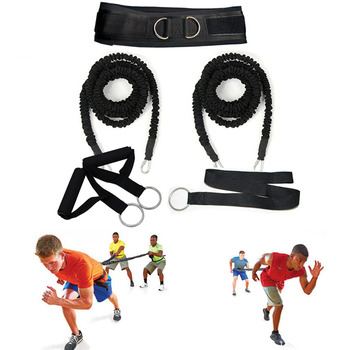 50-100LB Resistance Bungee Band Running Training Workout Band Basketball Football Equipment For Improving Strength Agility Speed fitness resistance bungee band with adjustable belt speed training tool for running training strength basketball and football