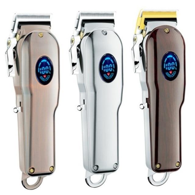 Barbeiro máquina de cortar cabelo profissional aparador de cabelo para homens barba cortador elétrico máquina de corte de cabelo sem fio com fio 3
