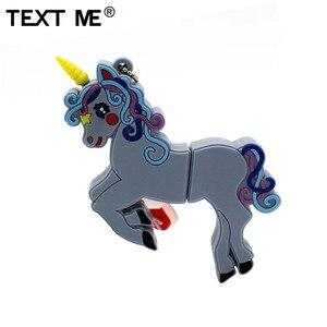 Image 4 - Wyślij mi 64GB cute cartoon styl jednorożca pamięć usb 2.0 4GB 8GB 16GB 32GB pendrive na prezent usb