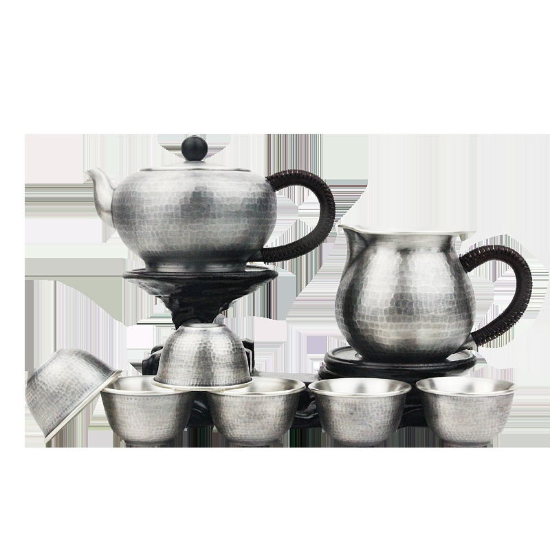 Seiko 999 Pure Silver Teapot Manual Pure Silver Kung Fu Silver Tea Set Silver Teapot Tea Ceremony Household