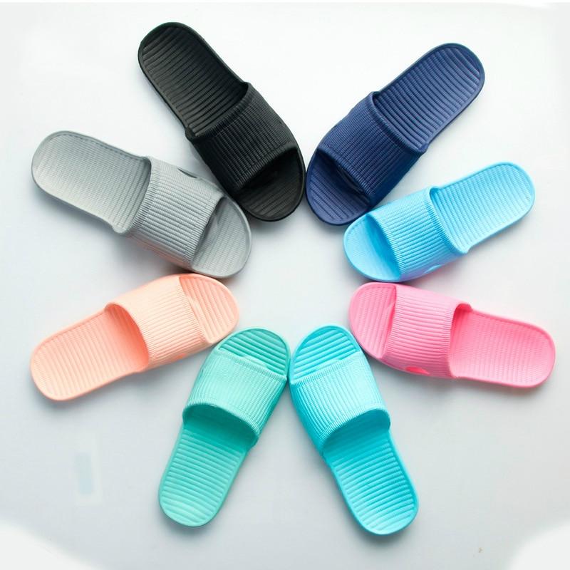 New Women Indoor Floor Flat Shoes Summer Non-slip Flip Flops Bath Home Slippers Female Slipper Comfortable Zapatillas de hombre 1